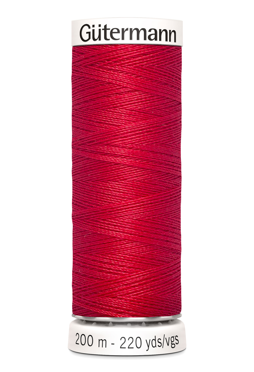 Polyestertråd 200 m Röd