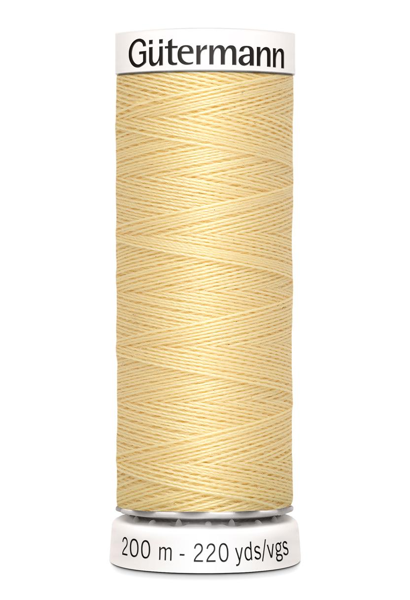 Polyestertråd 200 m Ljusgul