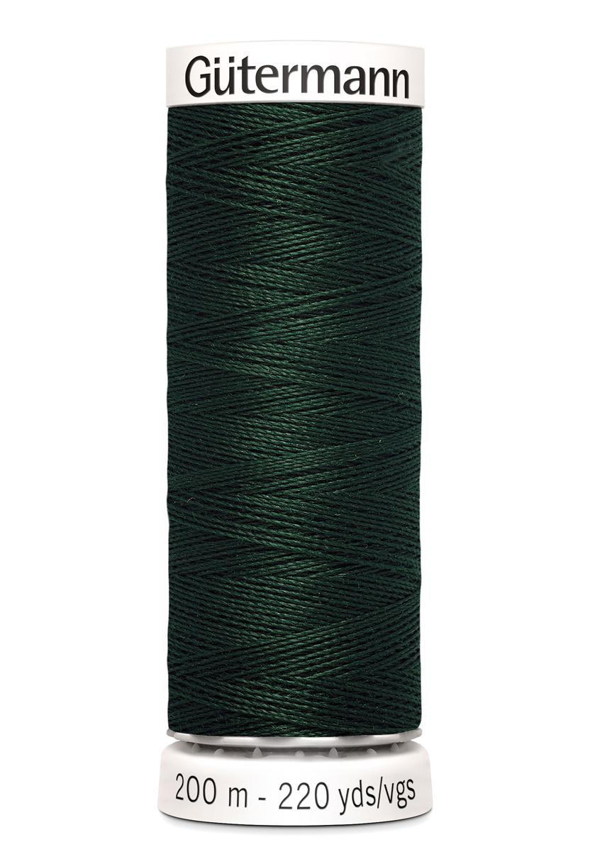 Polyestertråd 200 m Mörkgrön