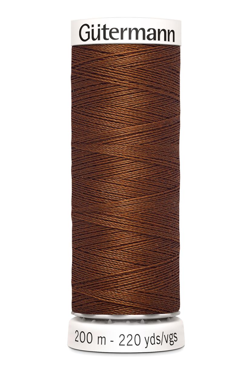 Polyestertråd 200 m Chokladbrun