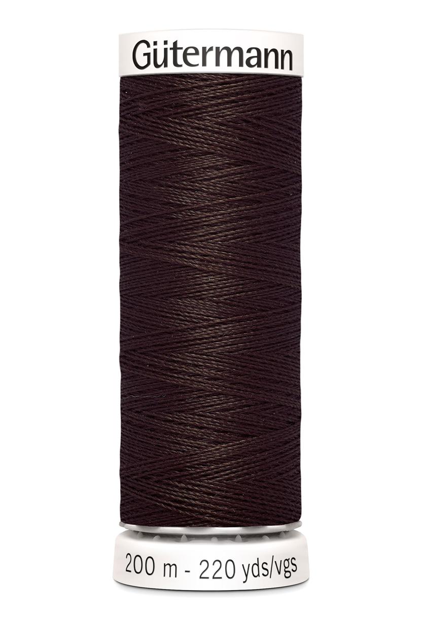 Polyestertråd 200 m Mörkbrun