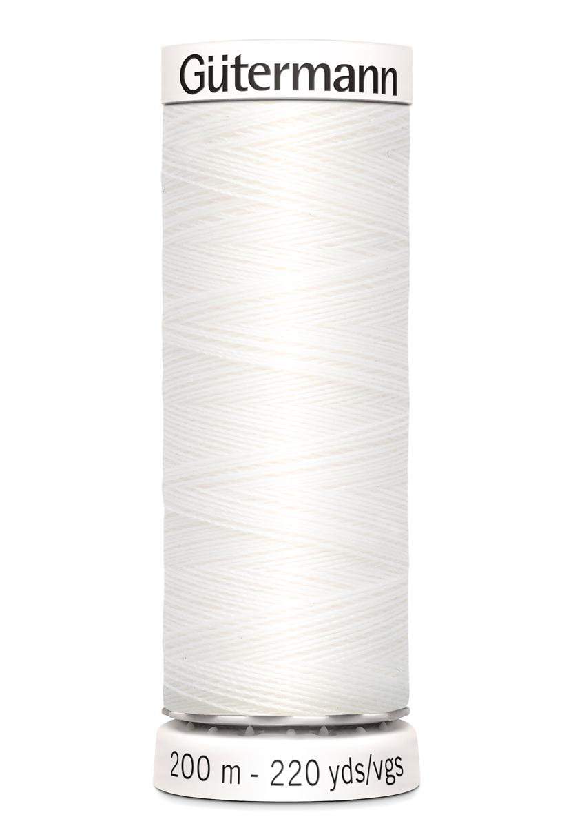 Polyestertråd 200 m Vit