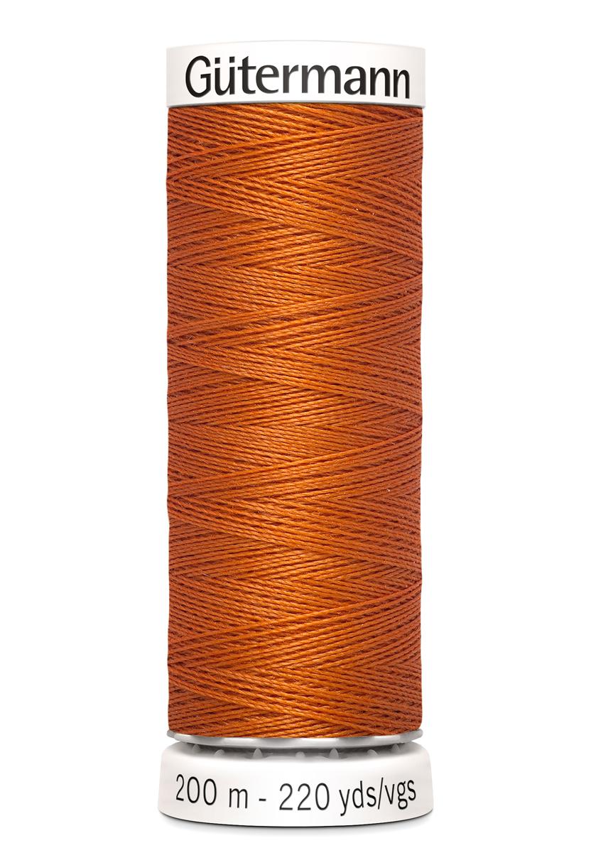 Polyestertråd 200 m Mörkorange