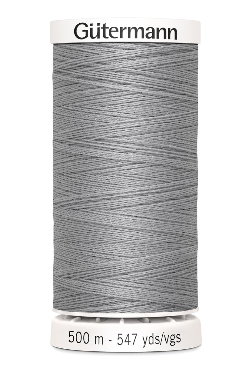Polyestertråd 500 m Ljusgrå