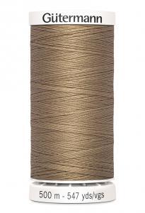 Polyestertråd 500 m Ljusbrun