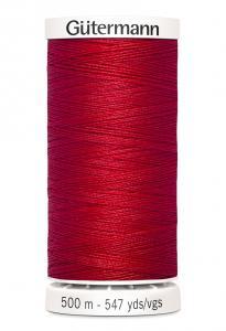 Polyestertråd 500 m Röd