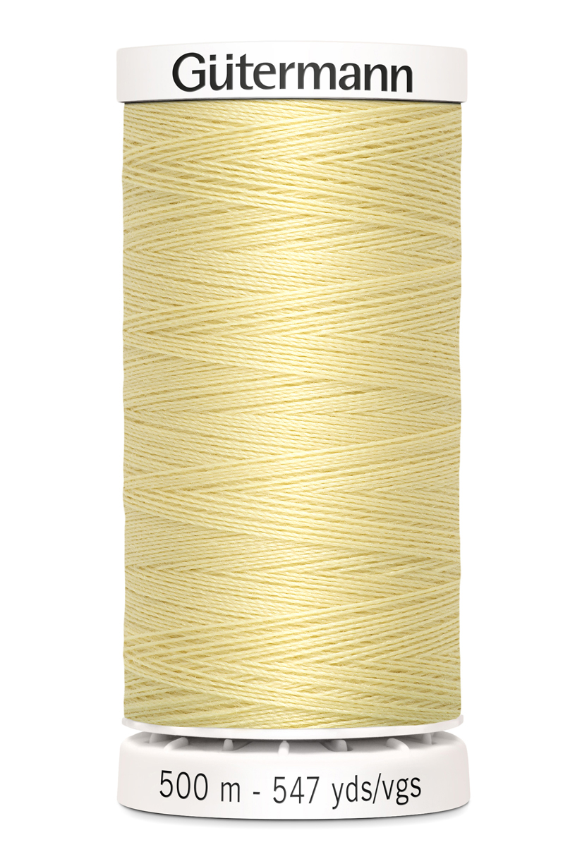 Polyestertråd 500 m Ljusgul