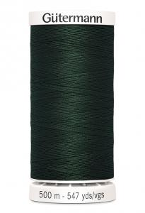 Polyestertråd 500 m Mörkgrön