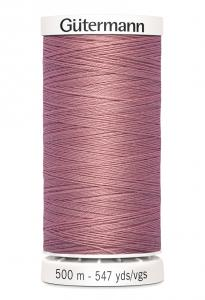 Polyestertråd 500 m Gammelrosa