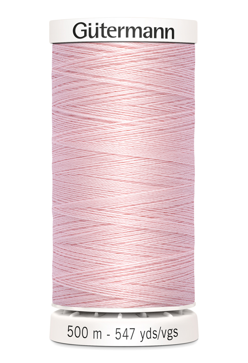 Polyestertråd 500 m Rosa