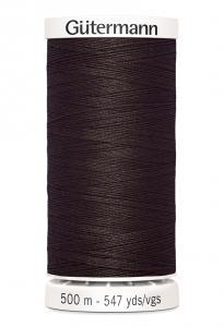 Polyestertråd 500 m Mörkbrun