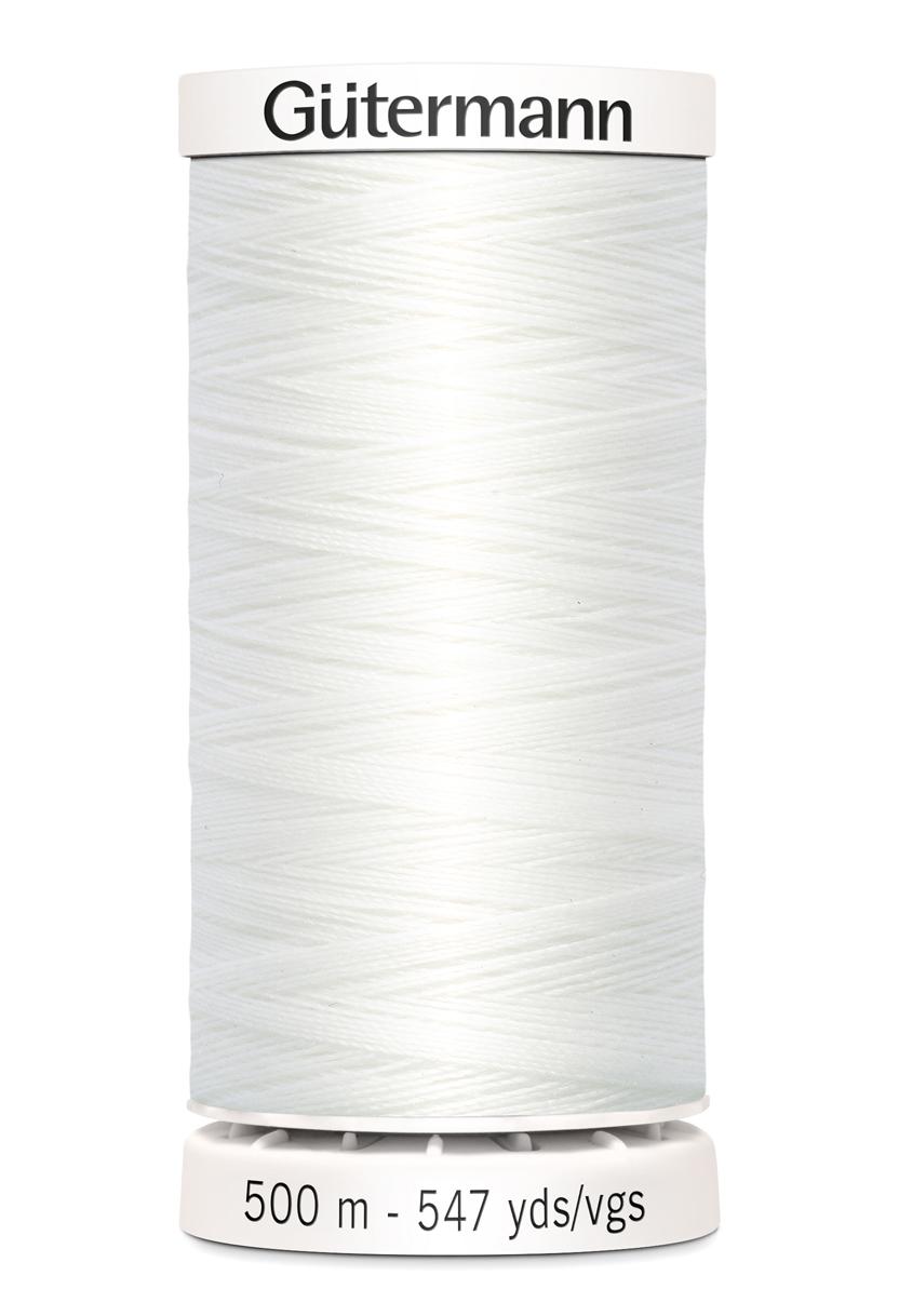 Polyestertråd 500 m Vit