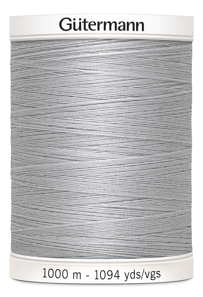 Polyestertråd 1000 m Ljusgrå