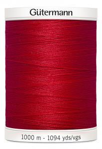 Polyestertråd 1000 m Röd