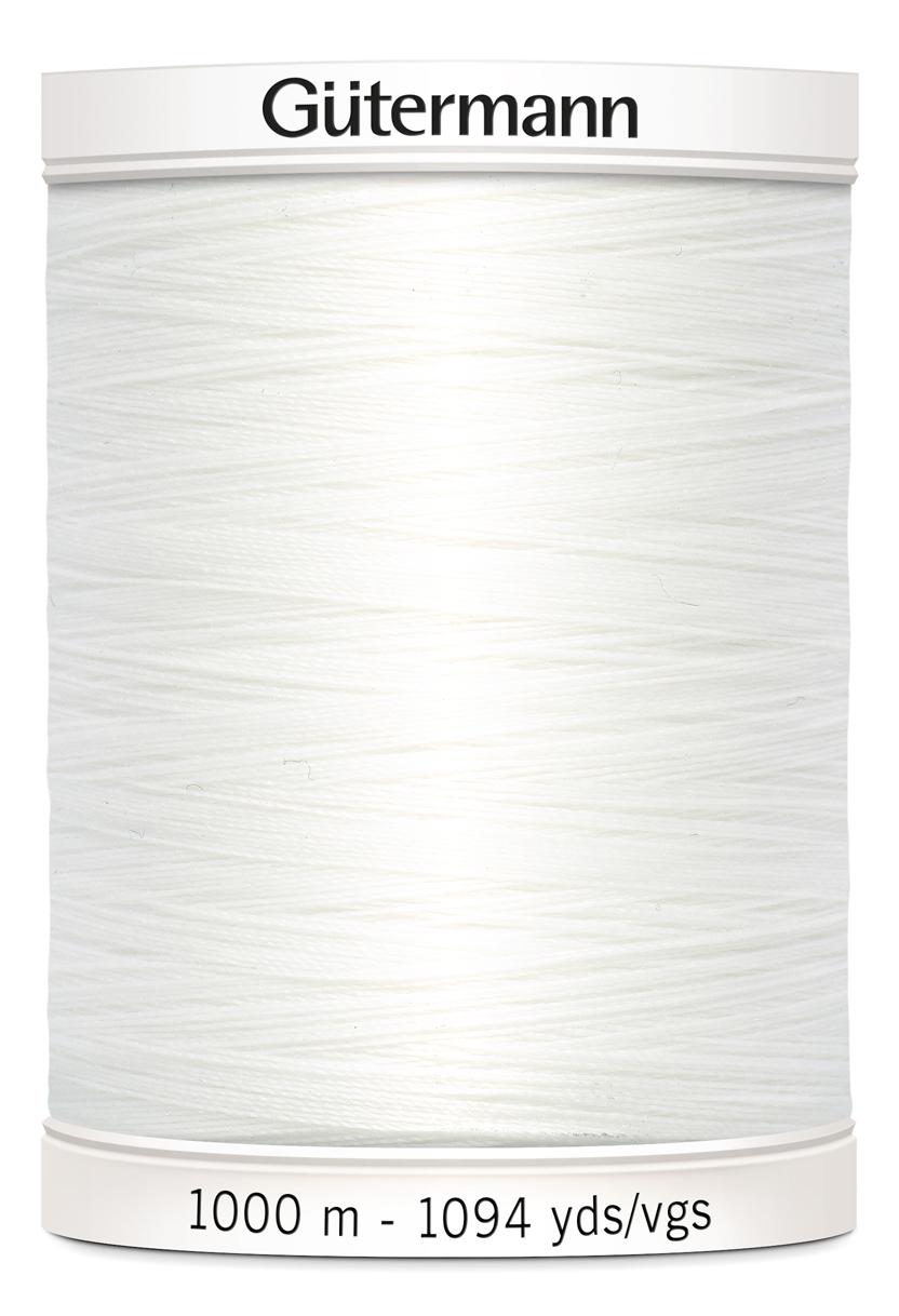 Polyestertråd 1000 m Vit