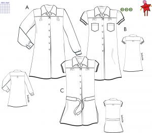 Skjortklänning - Stl 48-60