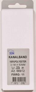 Kanalband 3,1 met 50mm Naturvit