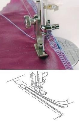 Blixtlåsfot justerbar - smal (8)