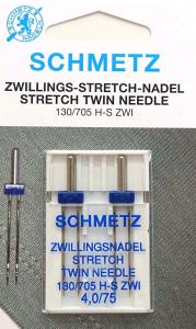 Tvillingnål stretch 4 mm 2st - 75/11 – Schmetz