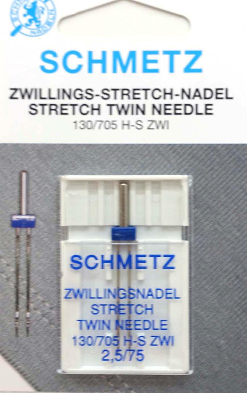 Tvillingnål Stretch 2,5 mm - 75/11 – Schmetz