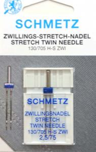 Tvillingnål Stretch 2,5 mm - 75/11 – Schmetz