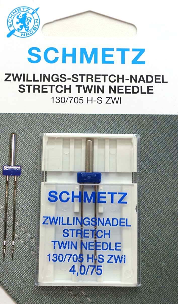 Tvillingnål Stretch 4,0mm - 75/11 – Schmetz