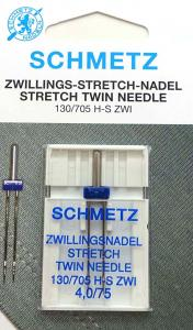 Tvillingnål Stretch 4,0mm - 75/11 – Schmetz