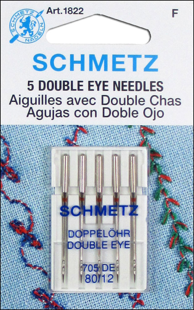 Nålar med dubbelöga 80/12 – Schmetz