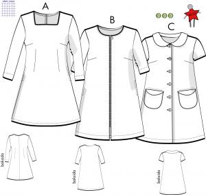 Karolina, klänning - Stl 48-60