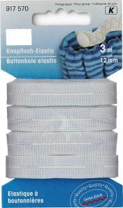 Knapphålsresår 12 mm - Vit