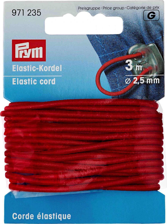 Resårsnodd 2,5 mm - Röd