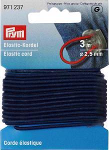 Resårsnodd 2,5 mm - Marinblå