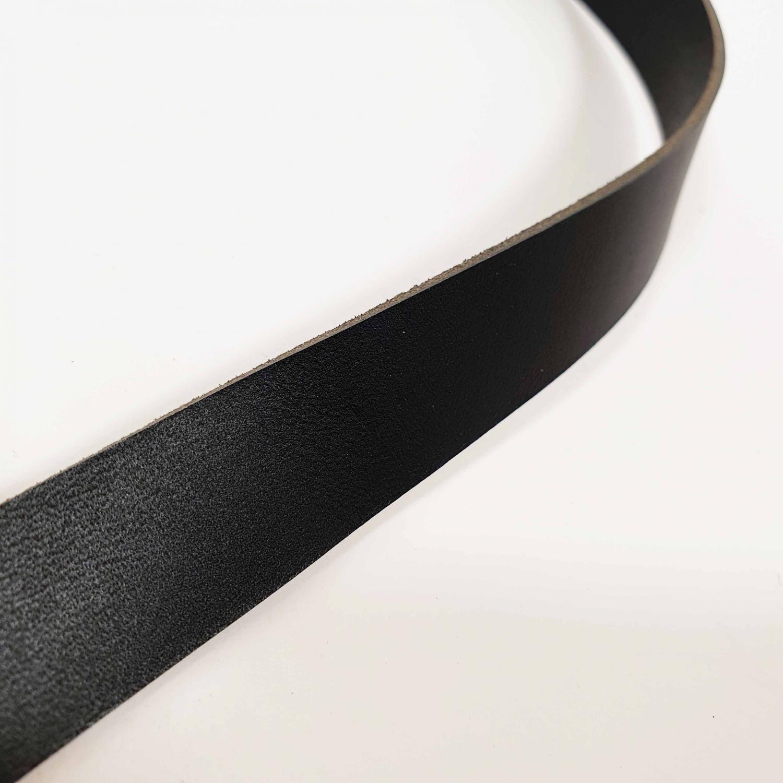 Läderrem 2cm bred - Svart