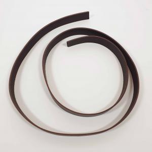 Läderrem 2 cm bred - Mörkbrun