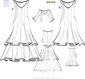 Fest- och brudklänning