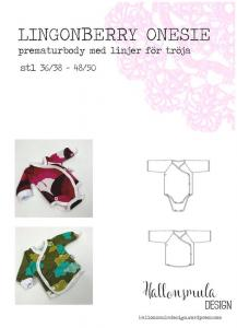 Prematurmönster - Lingonberry onesie