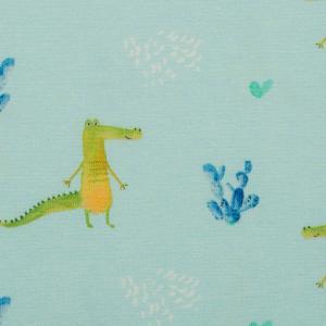 krokodil blå botten