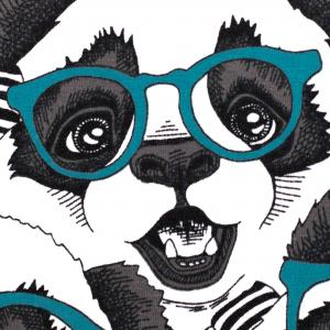 Pandor med glasögon