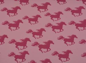 Rosa hästar på ljusrosa botten
