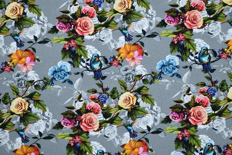 Färgade rosor på grå botten