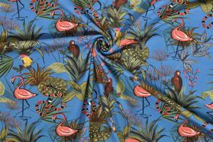 Flamingo på blå botten