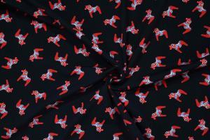Dalahästar svart och röd