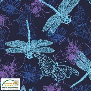 Viskostrikå trollsländor och fjärilar
