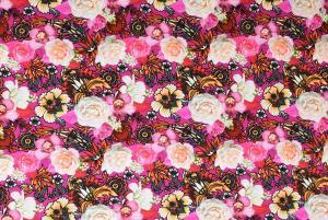 Blommor på rosa botten