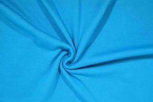 Stickat tyg blå
