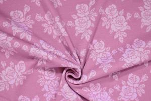 Rosa botten med svagt rosa blommor