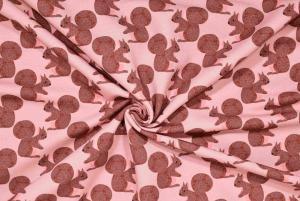 Ekorrar på rosa botten