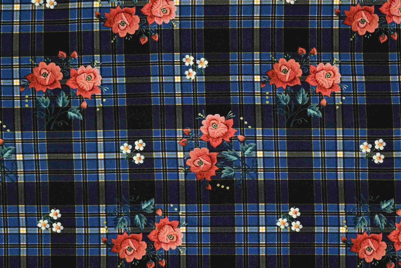 Blå rutiga blommor
