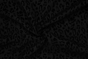 Jeanstyg Leopard Sammet - Svart