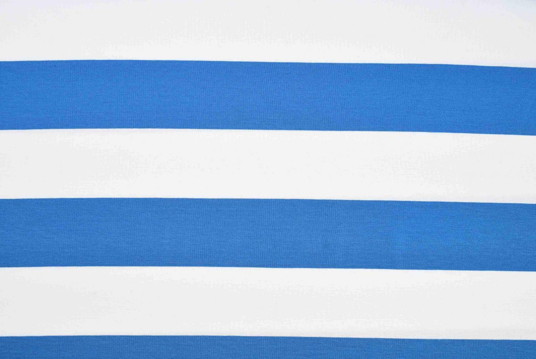 Viskostrikå randig - Vit och blå